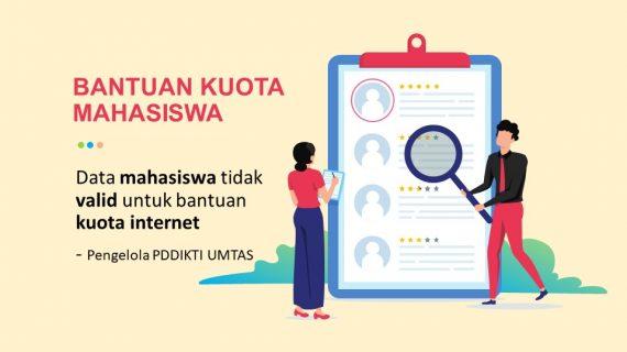 Data Tidak Valid Bantuan Kuota Mahasiswa